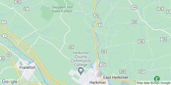Map of Herkimer Town, NY