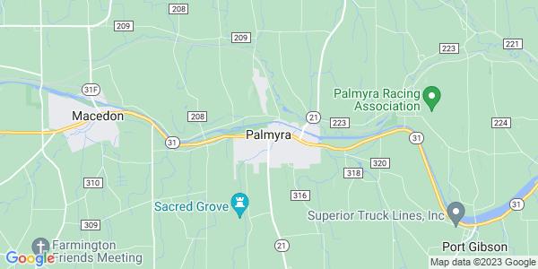 Map of Palmyra, NY