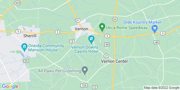 Map of Vernon Town, NY