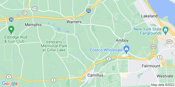 Map of Camillus Town, NY