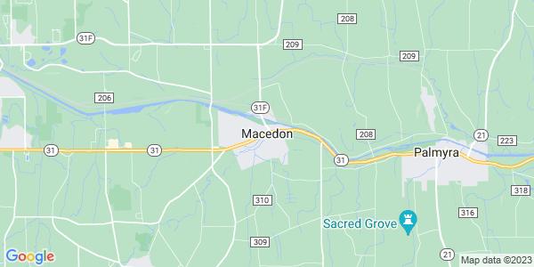 Map of Macedon, NY