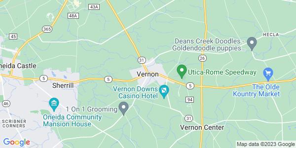 Map of Vernon, NY