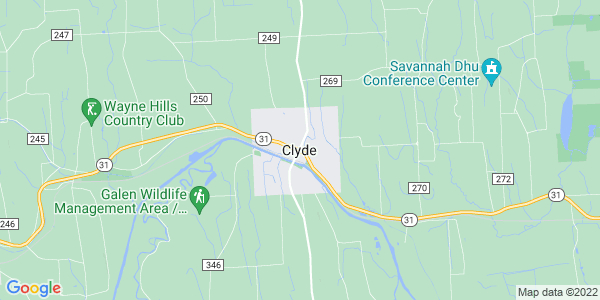 Map of Clyde, NY