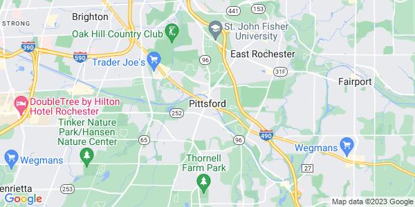 Map of Pittsford, NY