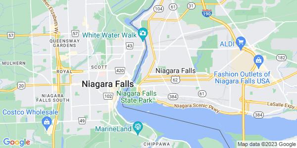 Map of Niagara Falls, NY