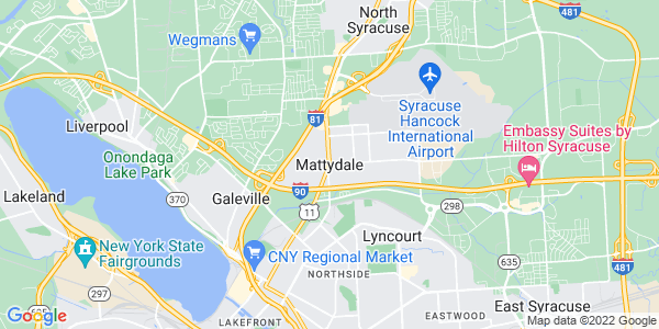 Map of Mattydale, NY