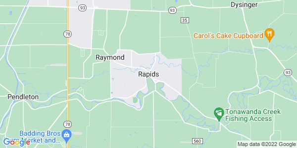 Map of Rapids, NY