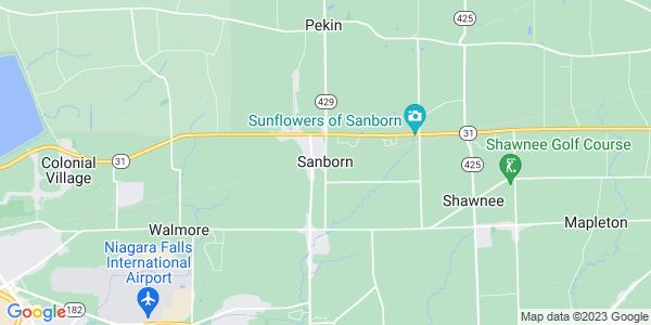 Map of Sanborn, NY