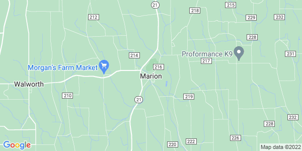 Map of Marion CDP, NY