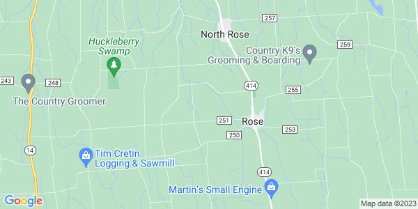 Map of Rose, NY