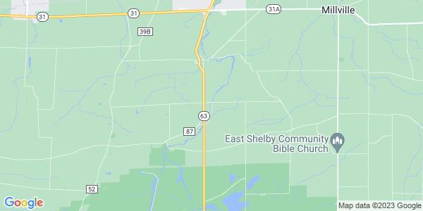 Map of Shelby, NY