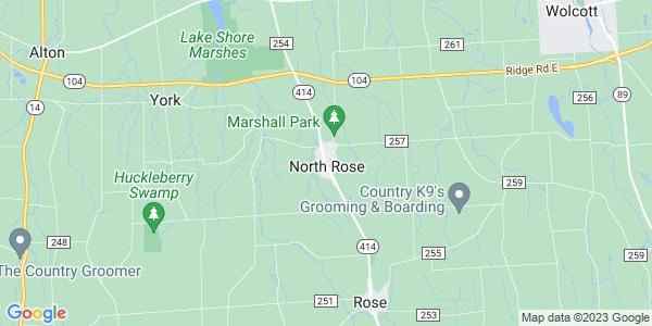 Map of North Rose, NY