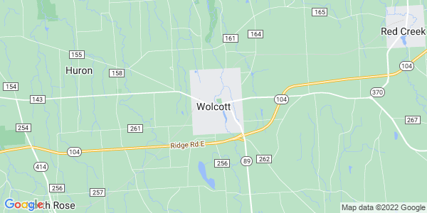 Map of Wolcott, NY
