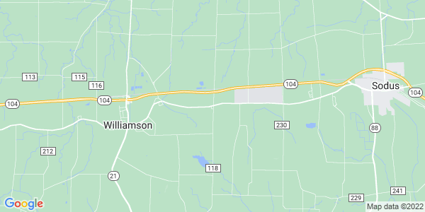 Map of East Williamson, NY