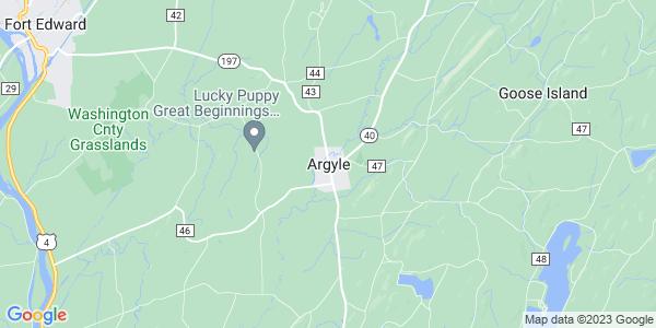 Map of Argyle, NY