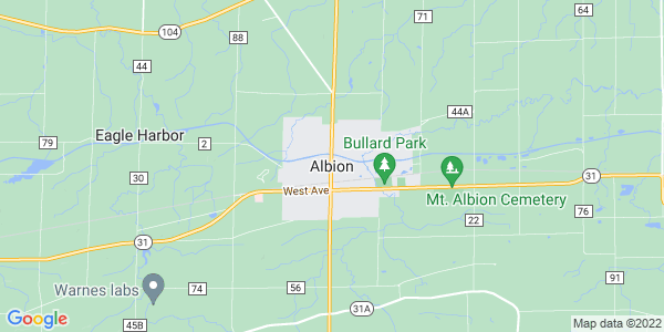 Map of Albion, NY