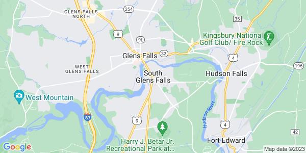 Map of South Glens Falls, NY