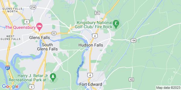 Map of Hudson Falls, NY