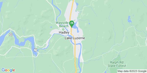 Map of Lake Luzerne CDP, NY