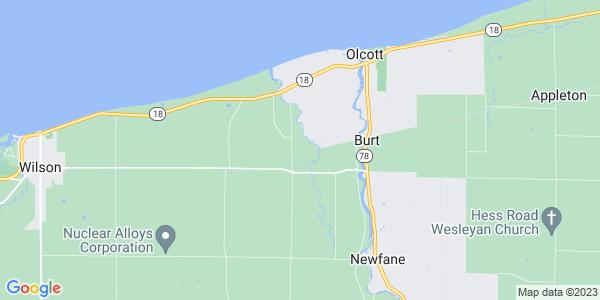 Map of Burt, NY