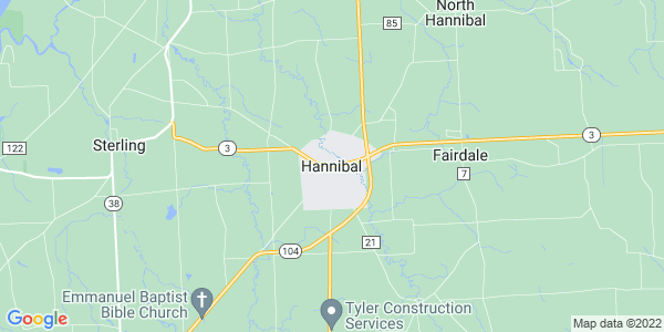 Map of Hannibal, NY