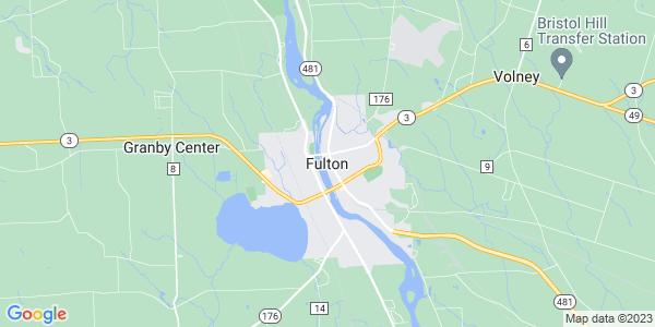 Map of Fulton, NY