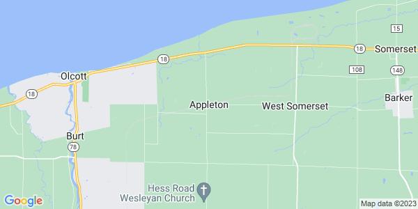 Map of Appleton, NY