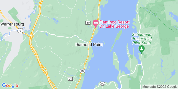 Map of Diamond Point, NY