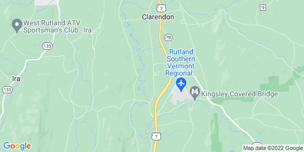 Map of North Clarendon, VT