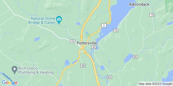 Map of Pottersville, NY