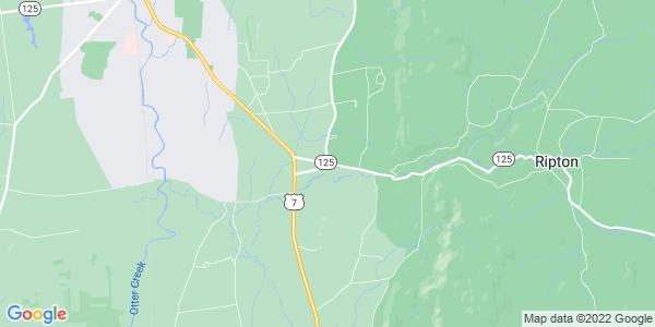 Map of East Middlebury, VT
