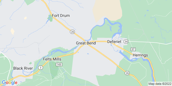 Map of Great Bend, NY