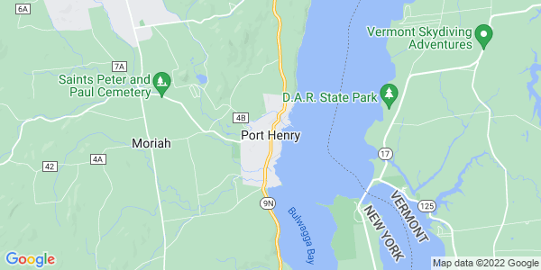 Map of Port Henry, NY