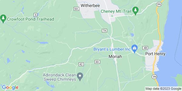 Map of Moriah, NY