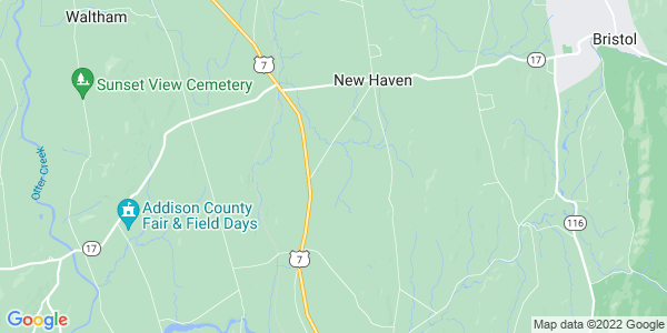 Map of New Haven, VT
