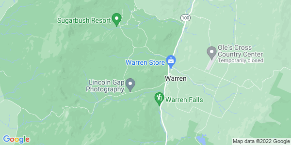 Map of Warren, VT