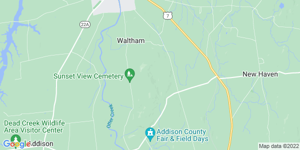 Map of Waltham, VT