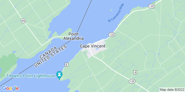 Map of Cape Vincent, NY