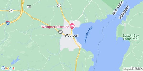 Map of Westport CDP, NY