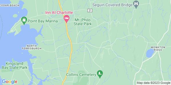 Map of North Ferrisburg, VT