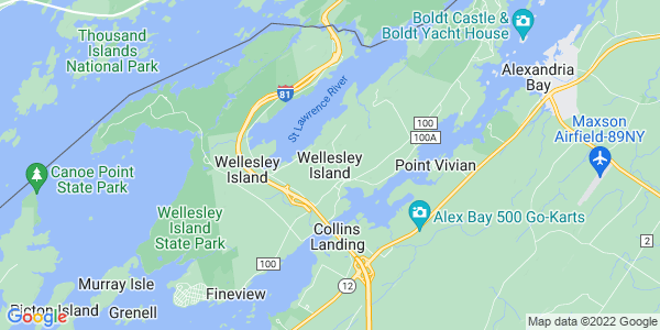 Map of Wellesley Island, NY