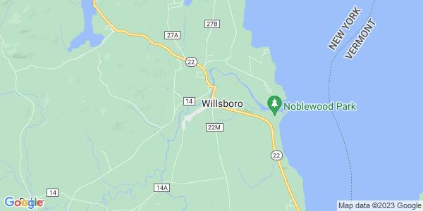 Map of Willsboro CDP, NY