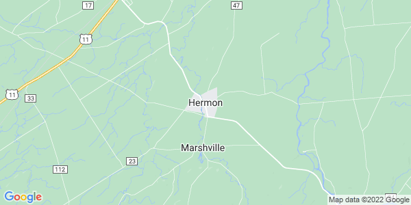 Map of Hermon, NY