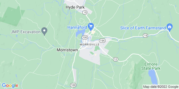 Map of Morrisville, VT
