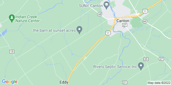 Map of Canton Town, NY