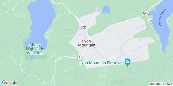 Map of Lyon Mountain, NY