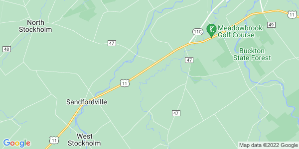 Map of Stockholm, NY