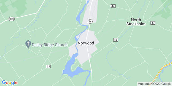 Map of Norwood, NY