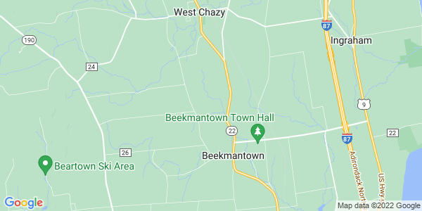 Map of Beekmantown, NY