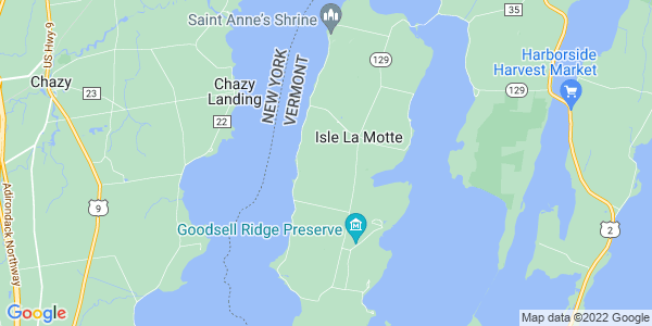 Map of Isle La Motte, VT